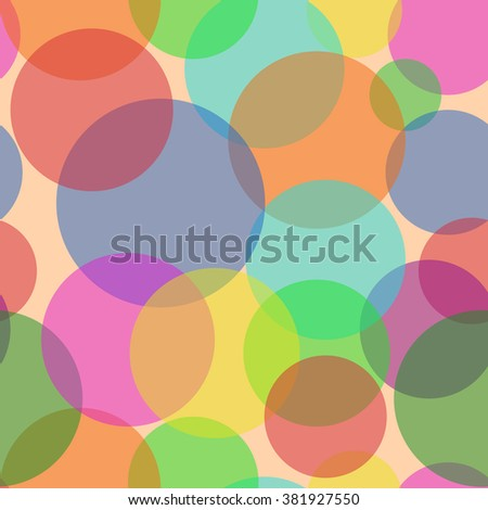 Sweet Bubbles. Seamless Texture for background image on websites, e-mails, etc. Cream-colored Background. Warm colors.