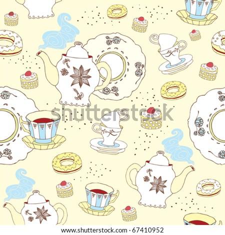 sweet cake background - stock vector