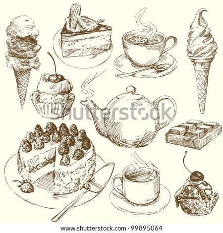 sweet collection - stock vector