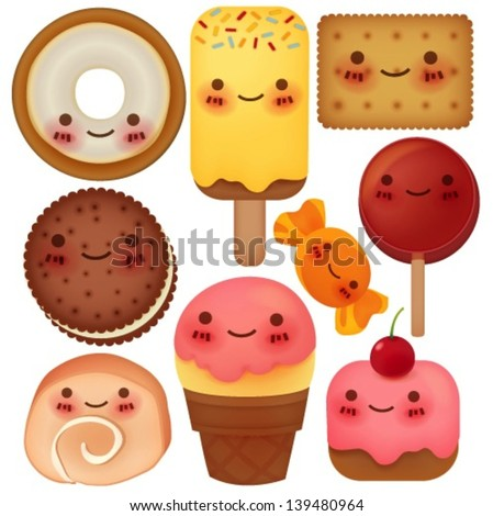 Sweet Collection - Vector File EPS10 - stock vector