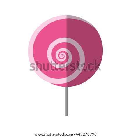 Sweet concept represented by candy icon. isolated and flat illustration