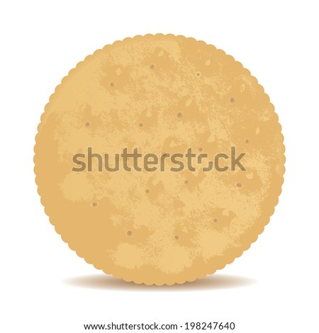 Sweet crispy cookies on isolated background.