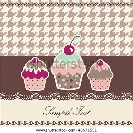 Sweet Cupcake Design or Package Design