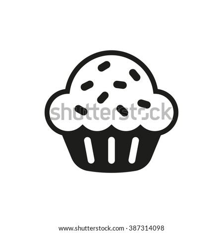 Sweet cupcake Icon Vector. Sweet cupcake Icon Art. Sweet cupcake Icon Image. Sweet cupcake Icon AI. Sweet cupcake Icon Drawing - stock vector