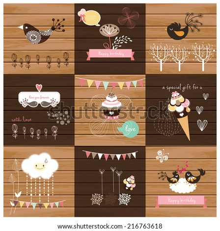 sweet design collection - stock vector