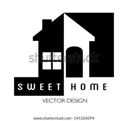 sweet design over white background vector illustration - stock vector