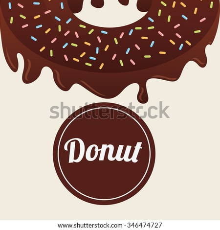 sweet donuts design, vector illustration eps10 graphic