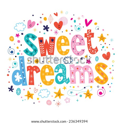 sweet dreams - stock vector