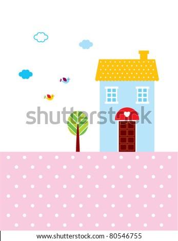 sweet home - stock vector
