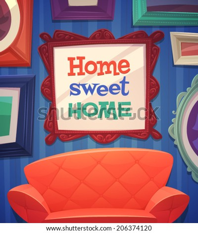 Sweet home card \ poster design. Vector illustration - stock vector