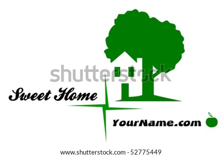 Sweet Home - vector illustration - stock vector