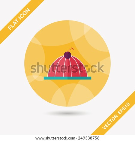 sweet jelly flat icon - stock vector