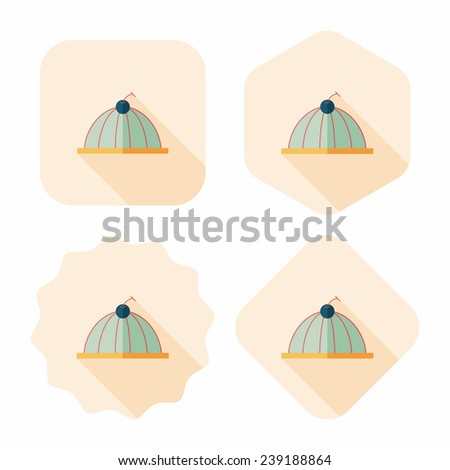sweet jelly flat icon with long shadow, eps10 - stock vector