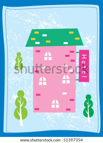 sweet little cottage greeting card