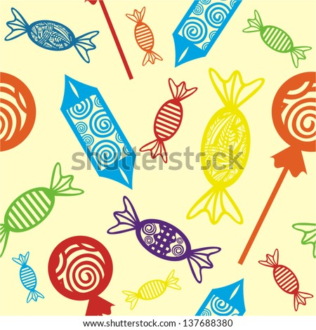 Sweet pattern seamless background - stock vector