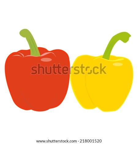 Sweet pepper vector - stock vector