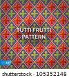 Sweet retro pattern, vector Eps10 illustration. - stock vector
