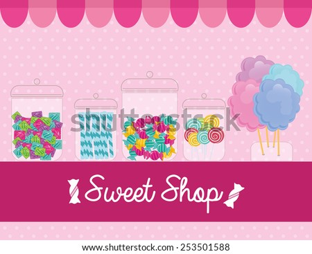 sweet shop design, vector illustration eps10 graphic  - stock vector