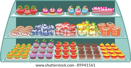 Sweet shop. vector - stock vector