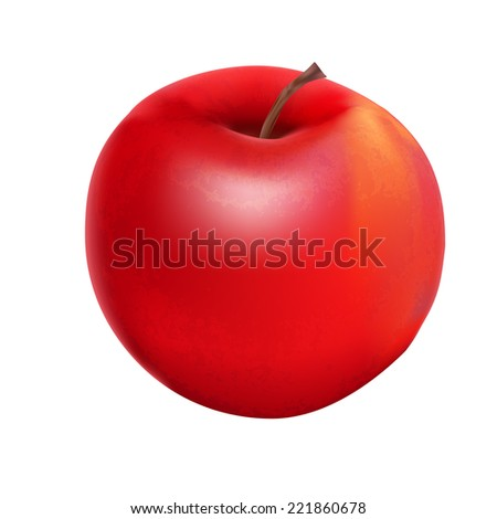 Sweet Tasty Apple Vector Illustration. EPS10 - stock vector