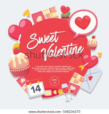 Sweet Valentine Day : Vector Illustration
