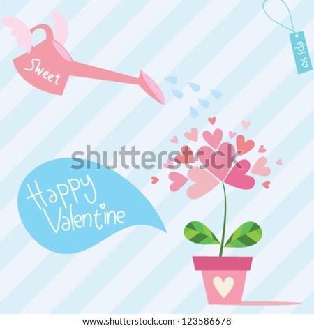 sweet valentine flower - stock vector