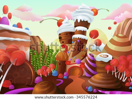 Sweet vector background - stock vector