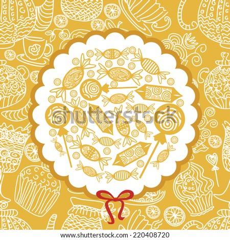Sweet vector illustration - stock vector