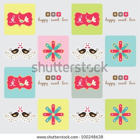 sweet wrapper collection - stock vector