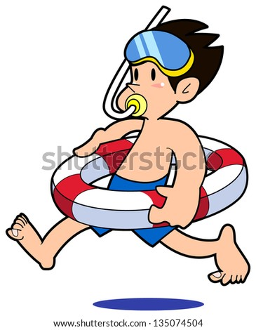 swimming - stock vector