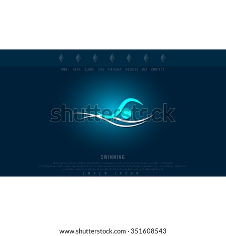 Pool logo stock images royalty free images vectors for Pool design graphic
