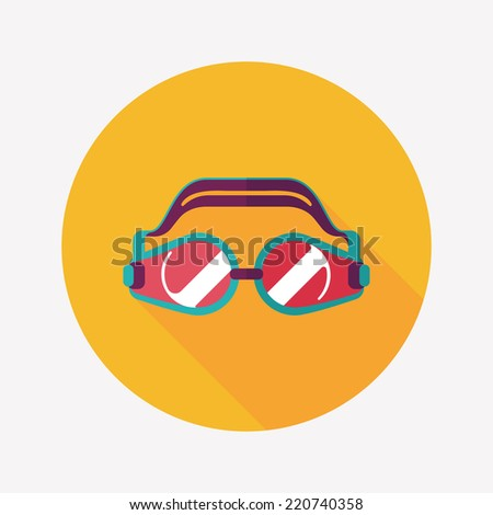 Swimming Goggles Vector Swimming Goggles Flat Icon