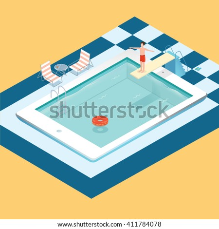 Kattebokatte 39 s portfolio on shutterstock for Pool design graphic