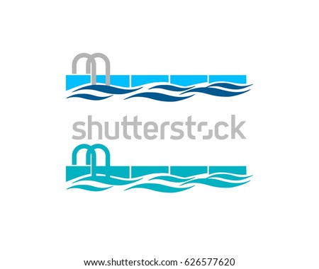 Swimming Pool Logo Stock Vector HD Royalty Free 626577620