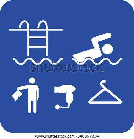 swimming pool services icon vector illustration sign