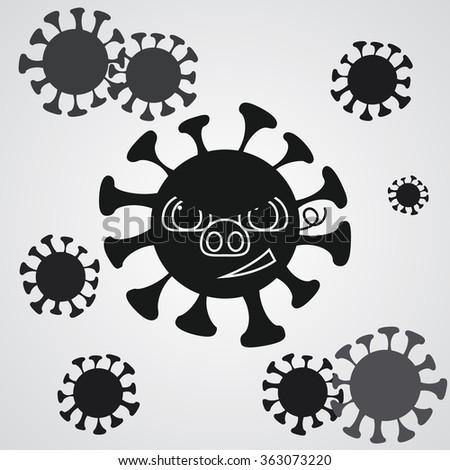 Swine flu - be careful. - stock vector