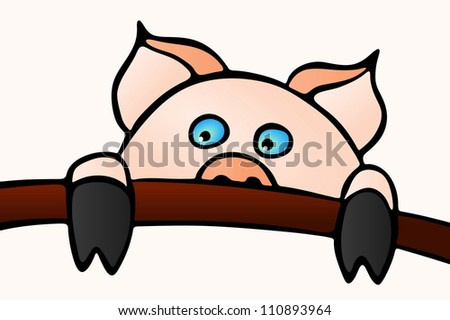 Swine Oink - stock vector