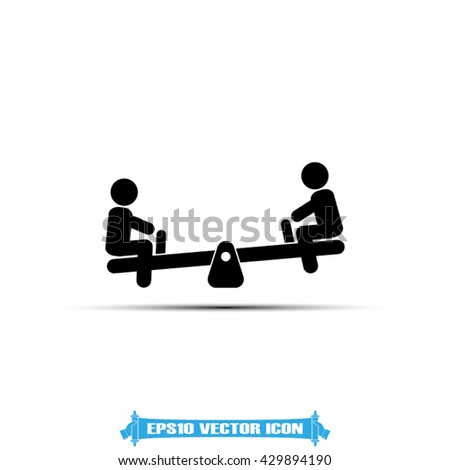 Swing child icon vector illustration eps10. Image swing child design flat style. - stock vector