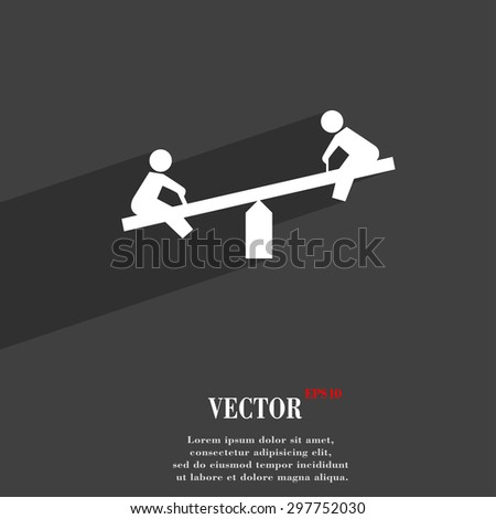 swing icon symbol Flat modern web design with long shadow and space for your text. Vector illustration - stock vector