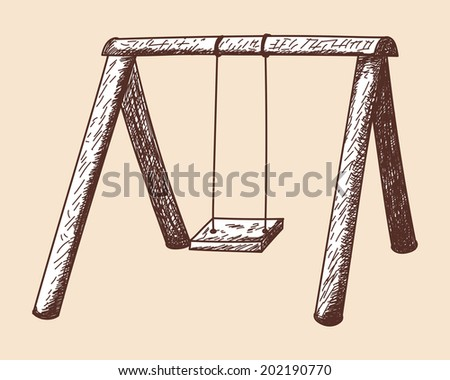Swing sketch. EPS 10 vector illustration without transparency.  - stock vector