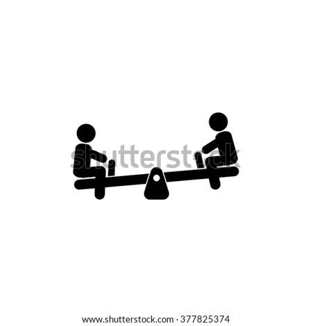 Swings and children vector icon - stock vector