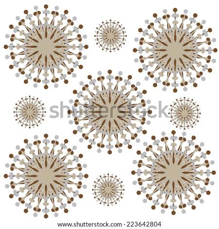 swirl circle dot pattern  - stock vector