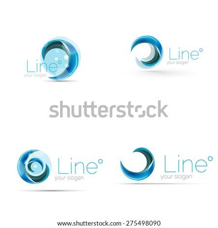 Swirl Company Blue Logo Design Universal Stock Vector 272219891 ...