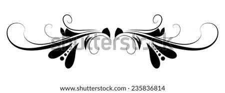 Swirl Design Separator - stock vector