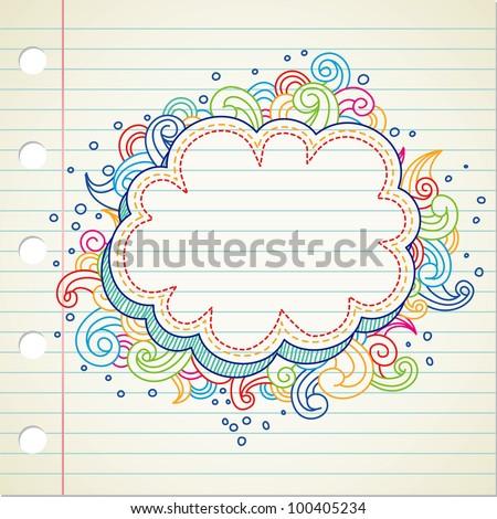 swirl doodle - stock vector