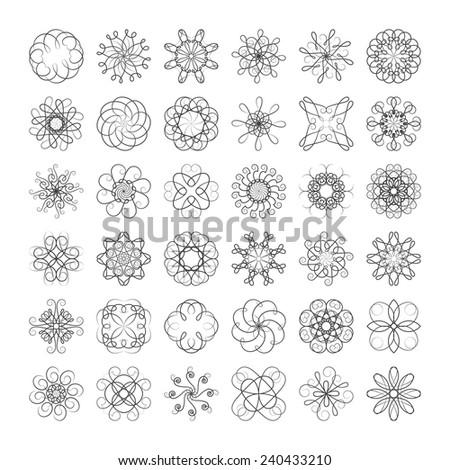 Swirl Elements - stock vector