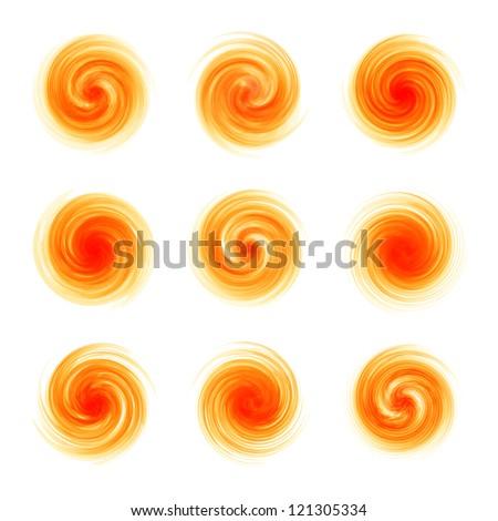 Swirl elements for design. Vector illustration. - stock vector