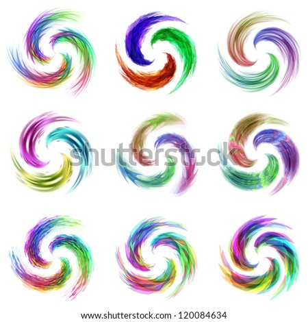 Swirl elements. Vector illustration.