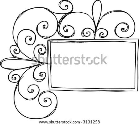 Swirl Frame Vector Illustration - stock vector