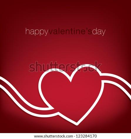 Swirl heart Valentine's Day card in vector format. - stock vector